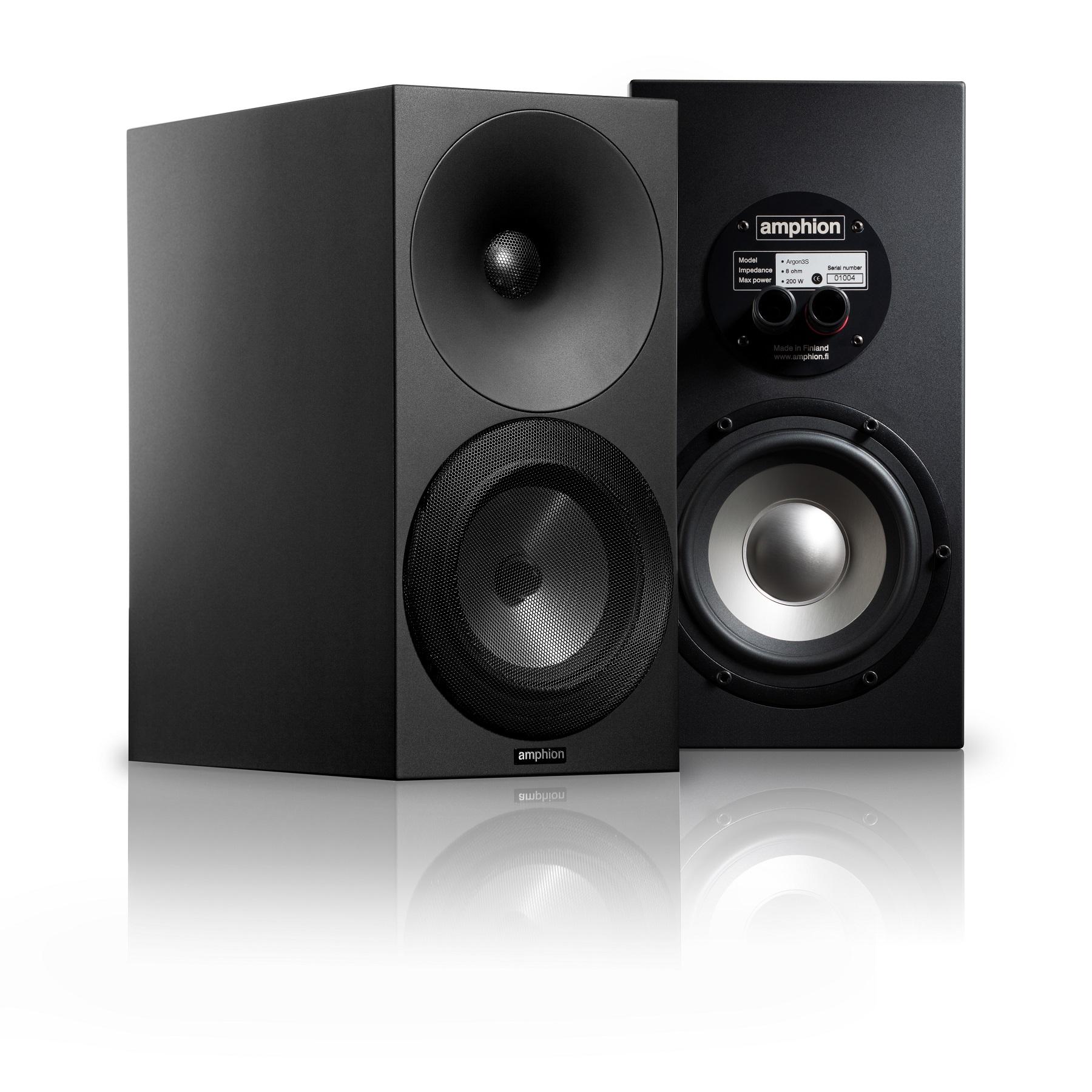 Amphion Argon 3S High-End Hangfal, fekete verzió