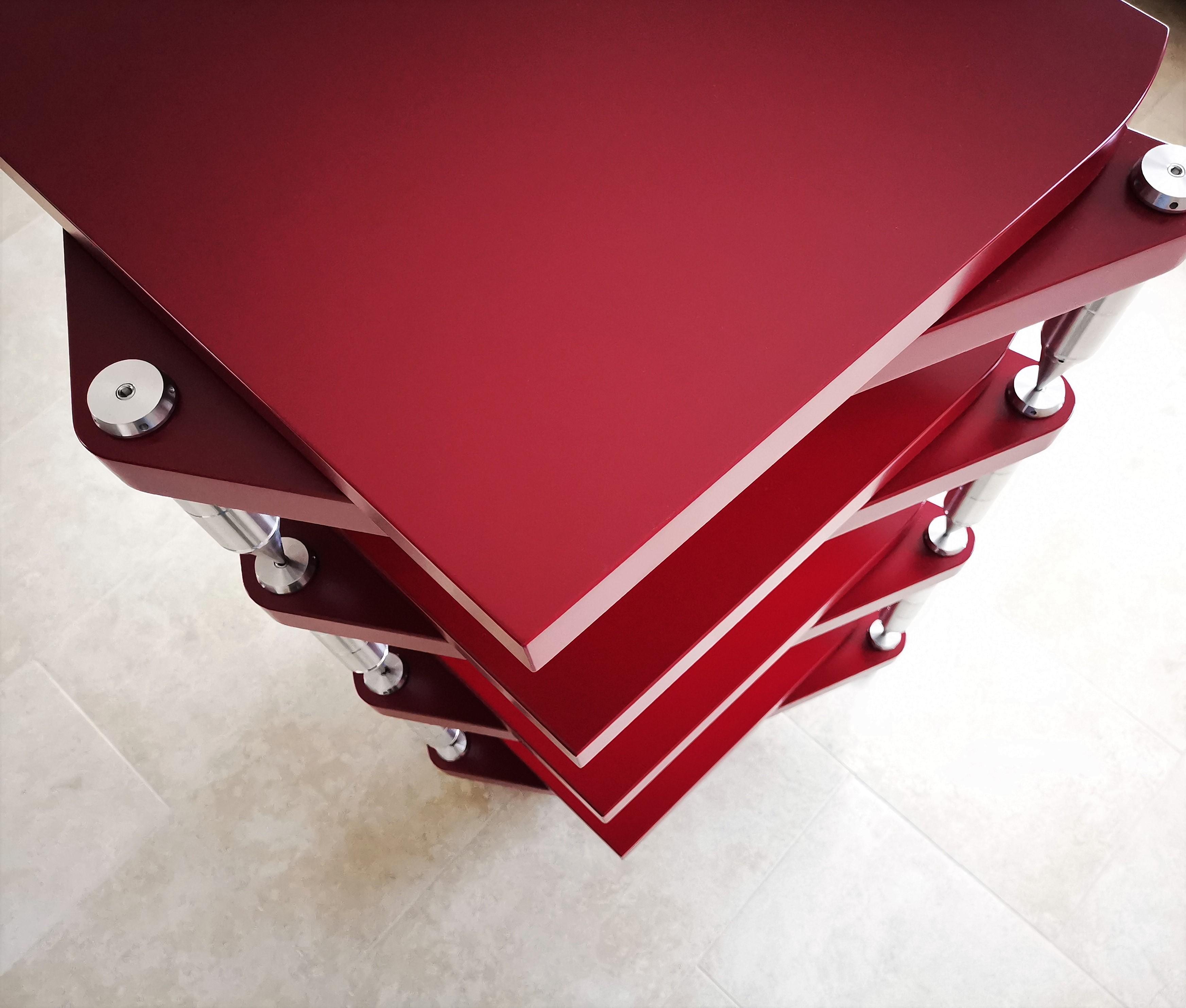 Pillartech hifi állvány piros verzió