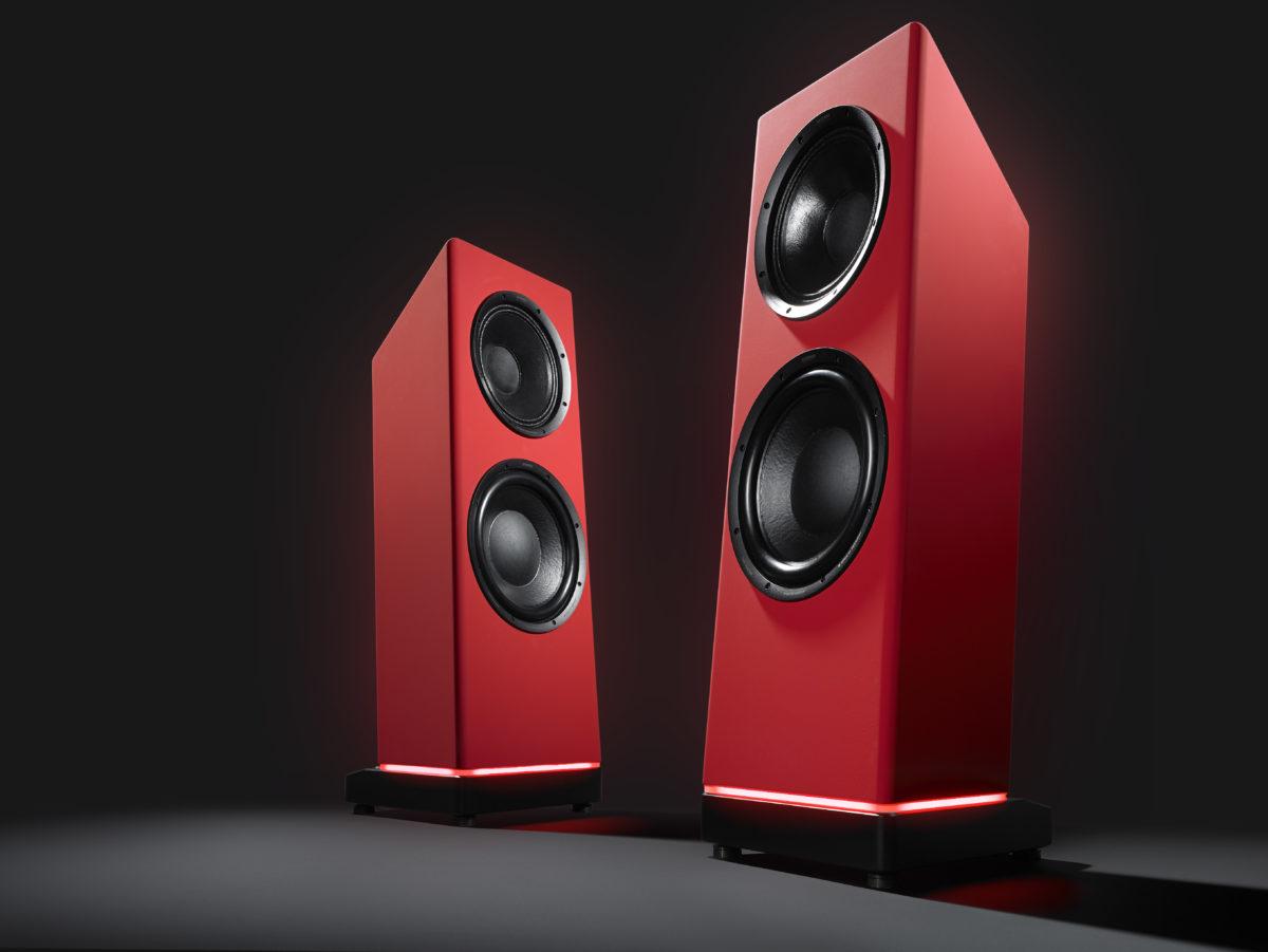 Ascendo Live 15 Active High-End hangszóró piros színben