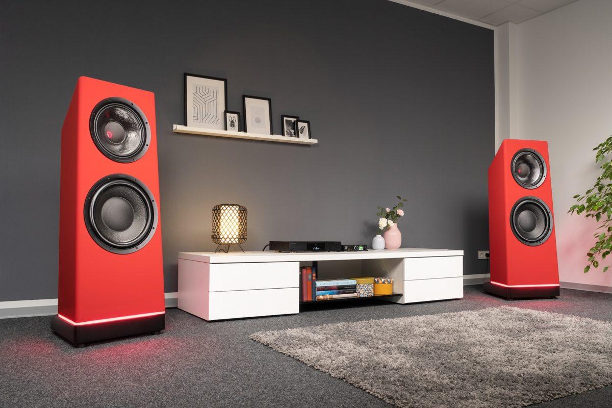 Ascendo Live15 Aktív High-End Hangfal piros színben Professional - Audio